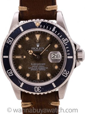 "Rolex Submariner ""Chocolate"" 16800 circa 1988"