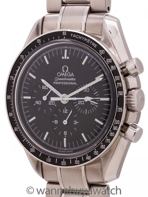 Omega Speedmaster Man On the Moon ref 3570.50 circa 2005 with Card