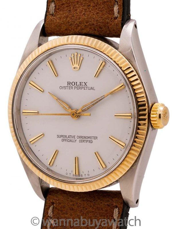 Rolex SS/14K YG Oyster Perpetual ref 1005 circa 1963