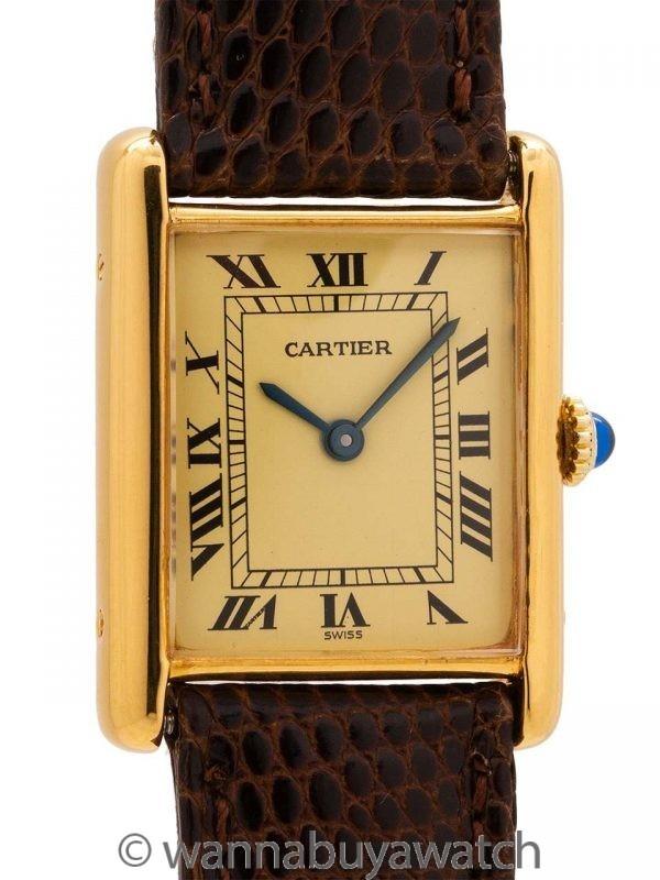 Man's Cartier Tank Louis Vermeil circa 1980's