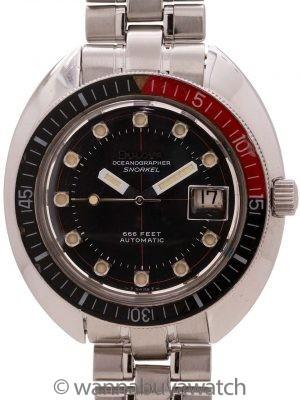 Bulova Oceanographer Snorkel 666 Diver's SS circa 1969
