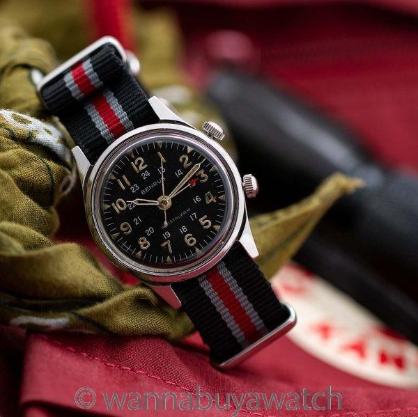 Benrus Wrist Alarm ref 3021 Stainless Steel circa 1960's