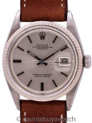 Rolex Datejust ref# 1601 SS/18K WG circa 1971