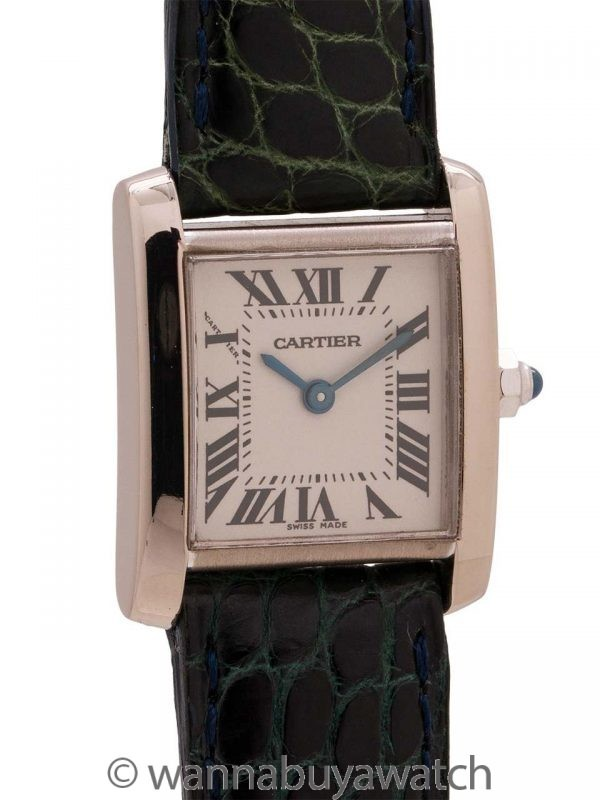 Cartier Tank Francaise 18K WG Lady's circa 1990's