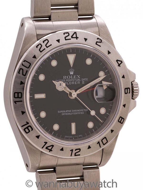 Rolex Explorer II ref 16570 Black Tritium Dial circa 1988 Minty!