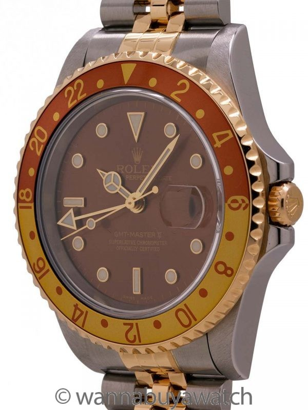 Rolex GMT II ref# 16713 SS/18K YG circa 2003
