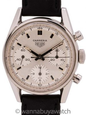 Heuer Carrera Stainless Steel Classic ref# 2447D circa 1968