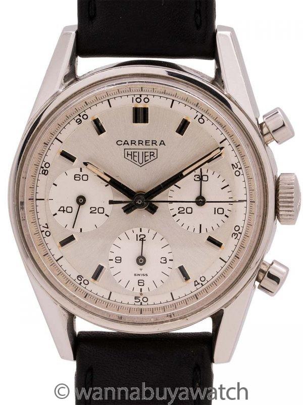 Heuer Carrera Stainless Steel Classic ref# 2447D circa 1968