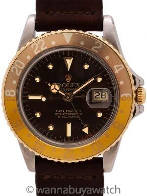 "Rolex SS/14K YG GMT ref 1675 ""Rootbeer"" circa 1979"
