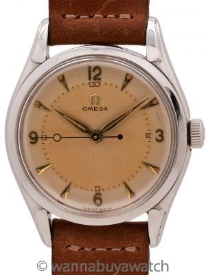 Omega Stainless Steel Dress Model #2721.25C circa 1952