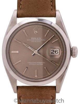 Rolex Datejust ref 1600 Smooth Bezel Grey Dial circa 1971