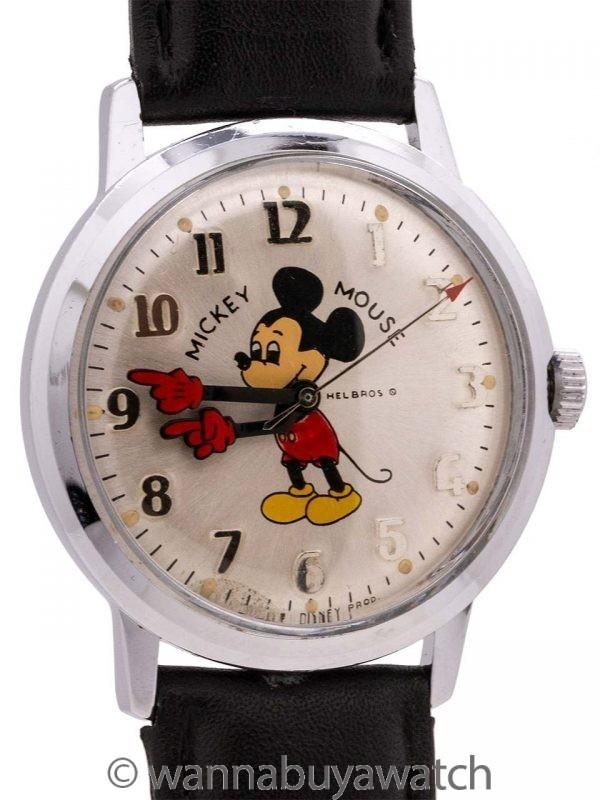 Helbros Mickey Mouse 17 Jewel circa 1970's