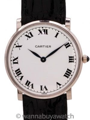 Rare Piaget Cartier 18K WG Dress Model circa 1960's