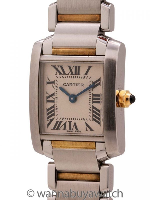 Cartier Lady's Tank Francaise SS/18K circa 2000s Warranty Papers