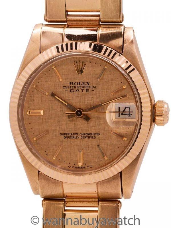 Rolex Midsize Datejust ref 6827 18K PG circa 1973