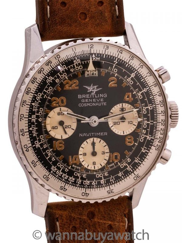 Vintage Breitling Cosmonaute Navitimer ref 809 Twin Jets circa 1965