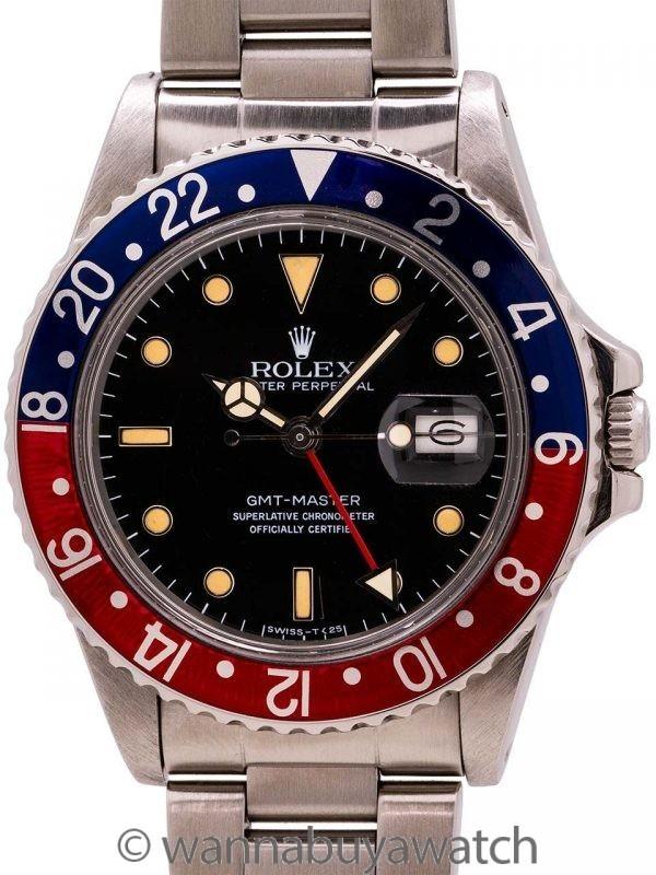 Rolex GMT Stainless Steel ref 16750 circa 1984