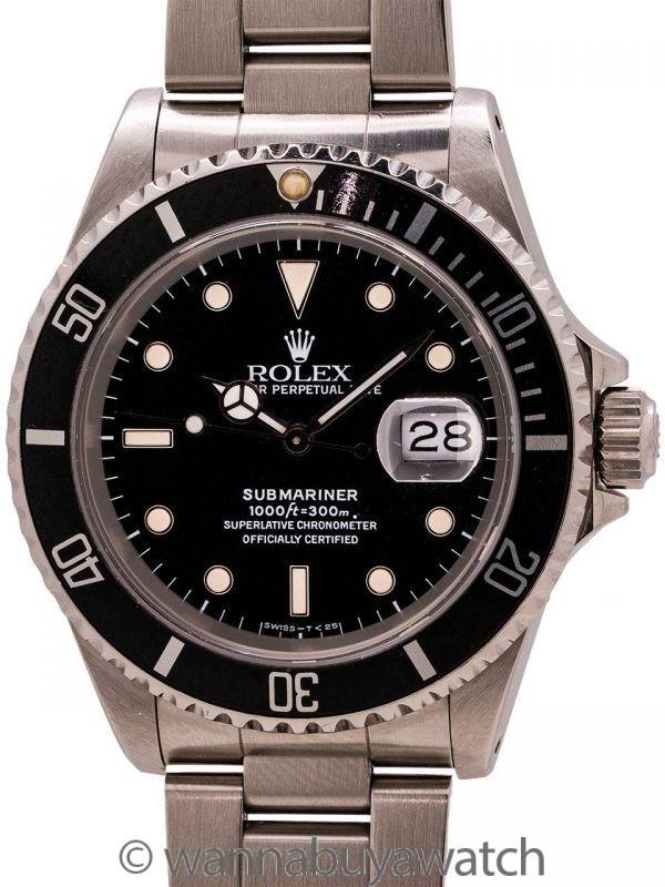 Rolex Submariner ref# 16610 circa 1990