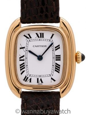 Cartier Gondola 18K YG Manual Wind circa 1970's