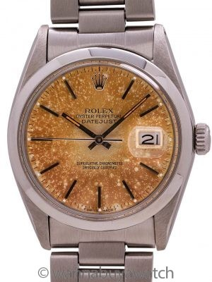 Rolex Datejust ref 16030 Tropical Dial circa 1978