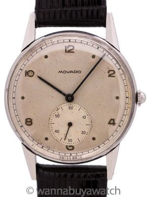 Movado SS Manual Wind circa 1950's