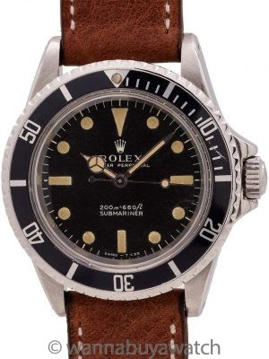 Rolex Submariner ref 5513 Meters First circa 1966