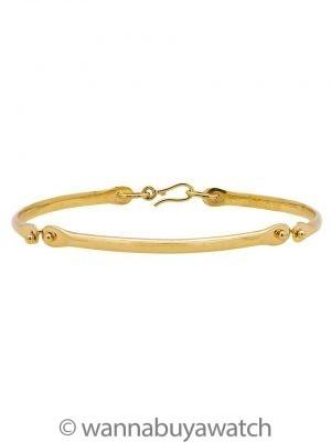 """Women's 18K YG Custom Hand Made Hinged Bracelet 6.75"""""""