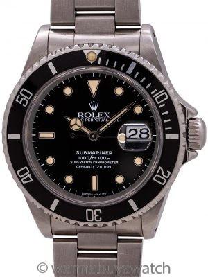Rolex Submariner ref# 16610 Tropical Tritium circa 1990
