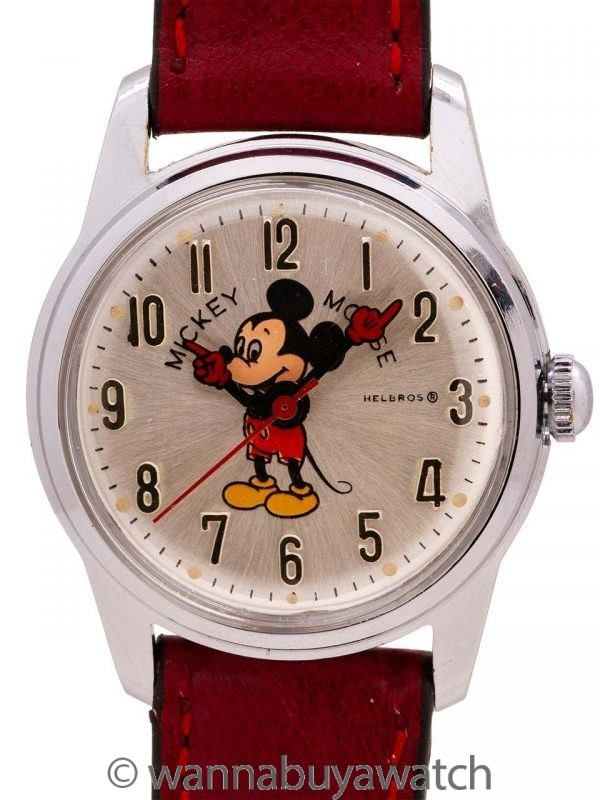 Helbros Mickey Mouse 17 Jewel circa 1970's
