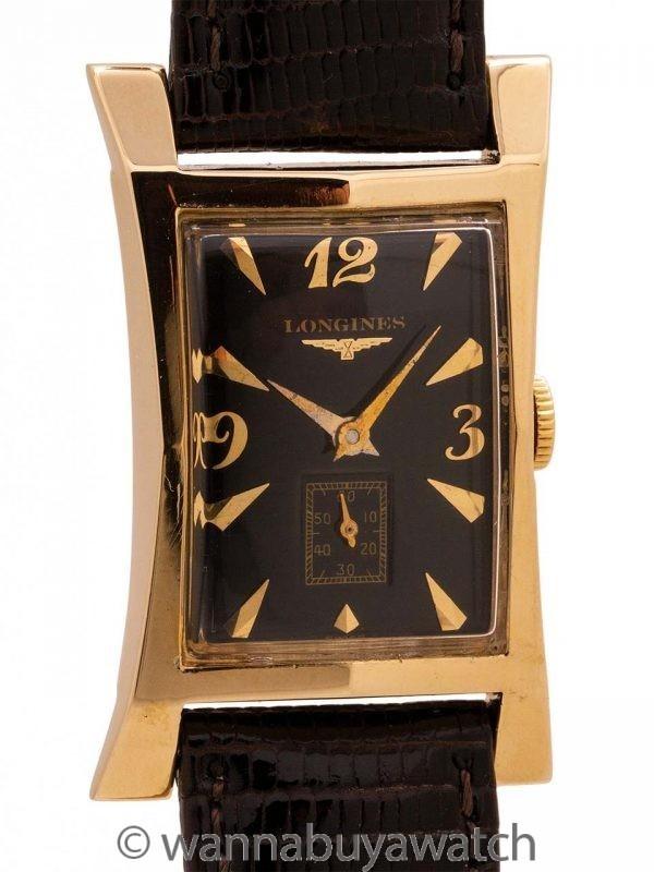 Longines 14K YG Elongated Hourglass circa 1950s