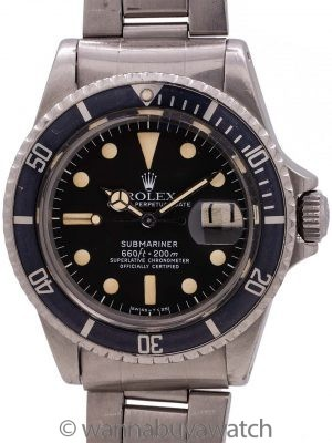Rolex Submariner ref# 1680 White Mk 1 circa 1978