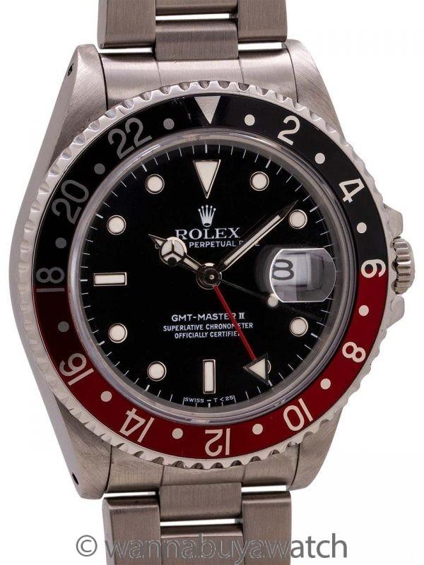 "Rolex GMT II ref 16710 ""Coke"" Tritium Lume circa 1988"