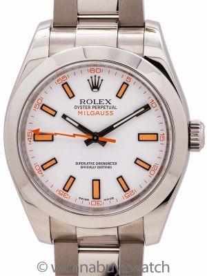 Rolex SS Milgauss ref 116400 White Dial circa 2008