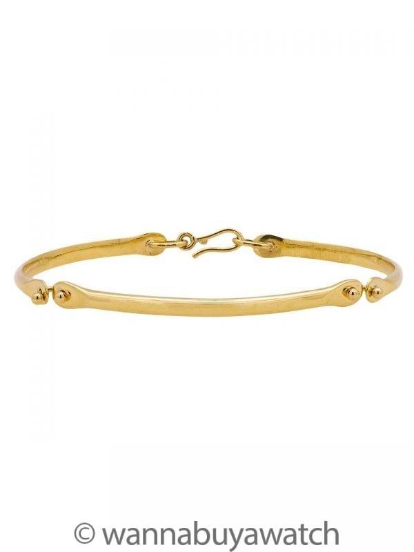 """Women's 18K YG Custom Hand Made Hinged Bracelet 6-6.25"""" """""""