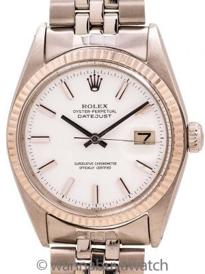 "Rolex SS Datejust ref 1601 ""Snow White"" circa 1970"