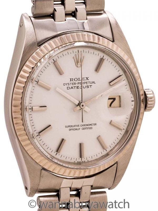 "Rolex SS Datejust ref 1601 ""Snow White"" circa 1970"