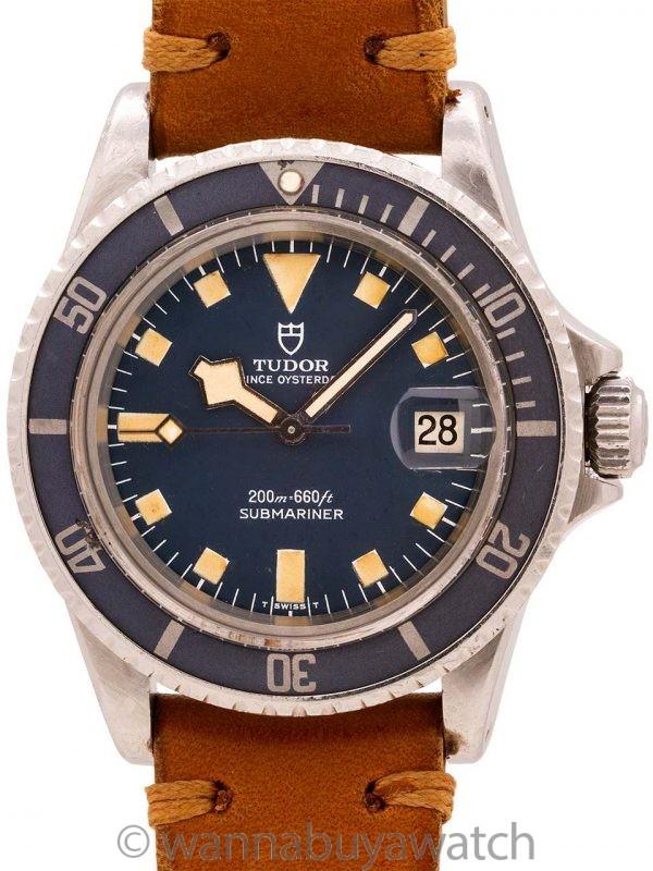"Tudor ""Snowflake"" Submariner Blue w/ Date ref# 94110 circa 1976"