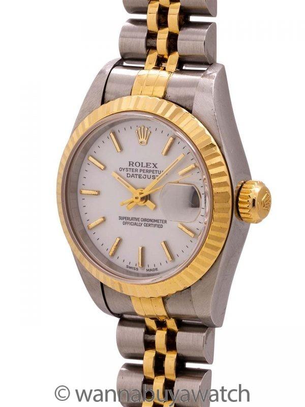 Lady Rolex Datejust SS/18K YG ref 79173 circa 1998