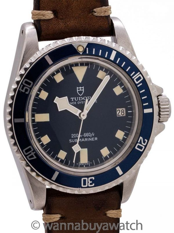 "Tudor Blue ""Snowflake"" Submariner w/ Date ref# 9411/0 circa 1978"