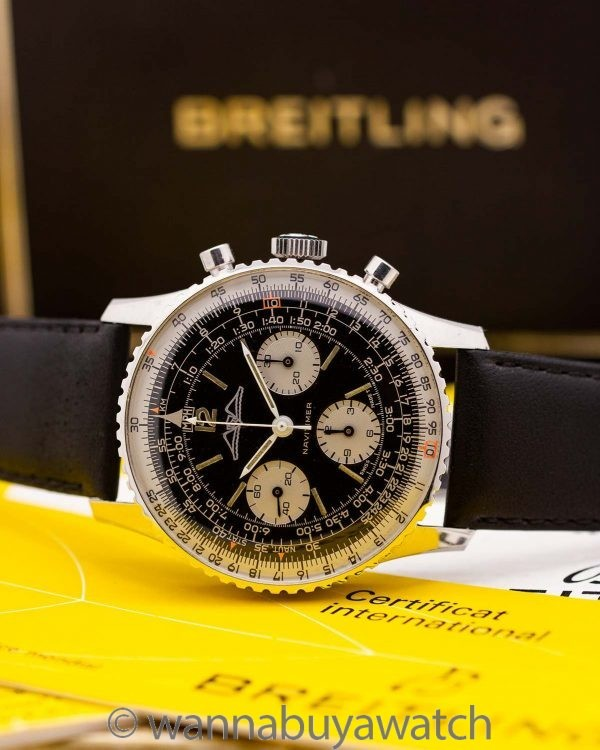 Vintage Breitling Navitimer ref 806 AOPA circa 1960's w/ Box & Papers