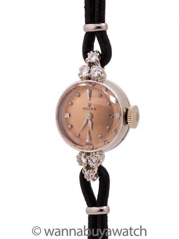 Lady Rolex Dress Watch 18K WG circa 1950's