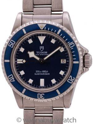 "Tudor Blue ""Snowflake"" Submariner w/ Date ref# 94100 circa 1981"