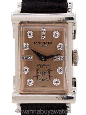 Longines 14K WG Diamond Dial circa 1950's