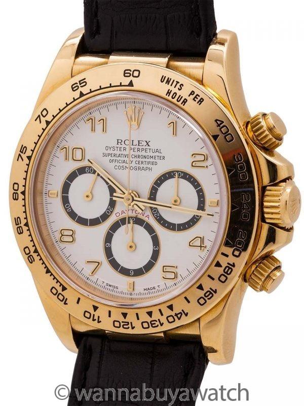 Rolex 18K YG Daytona ref 16518 circa 1995