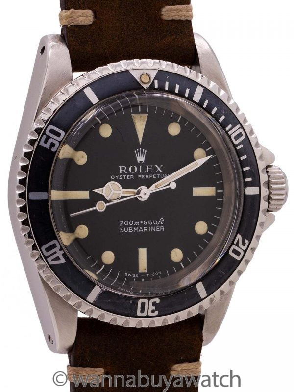 Rolex Submariner ref 5513 Stainless Steel Meters First Dial circa 1969