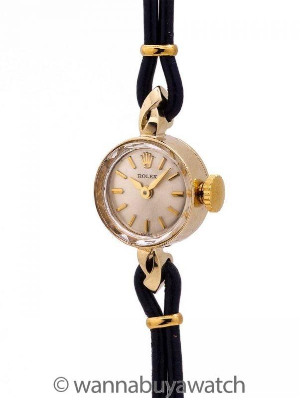 Lady Rolex Dress Watch 14K YG circa 1950's