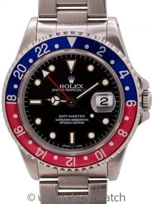 Rolex GMT ref 16700 Pepsi Bezel circa 1995 B & P