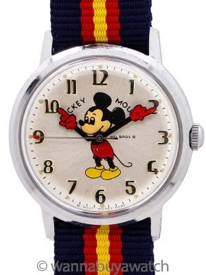 Helbros 17 Jewel Mickey Mouse circa 1970's