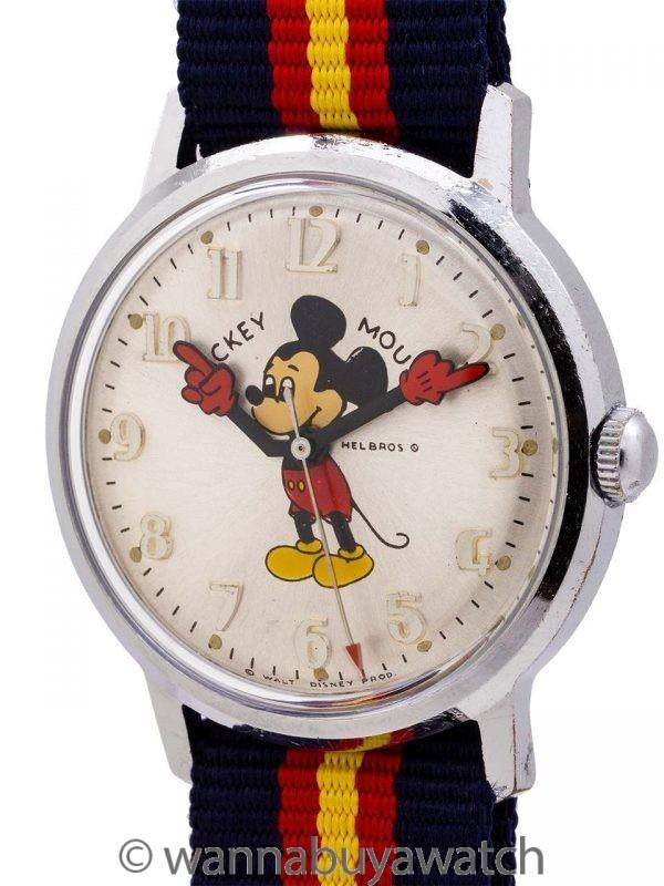 Helbros 17 Jewel Mickey Mouse circa 1970's