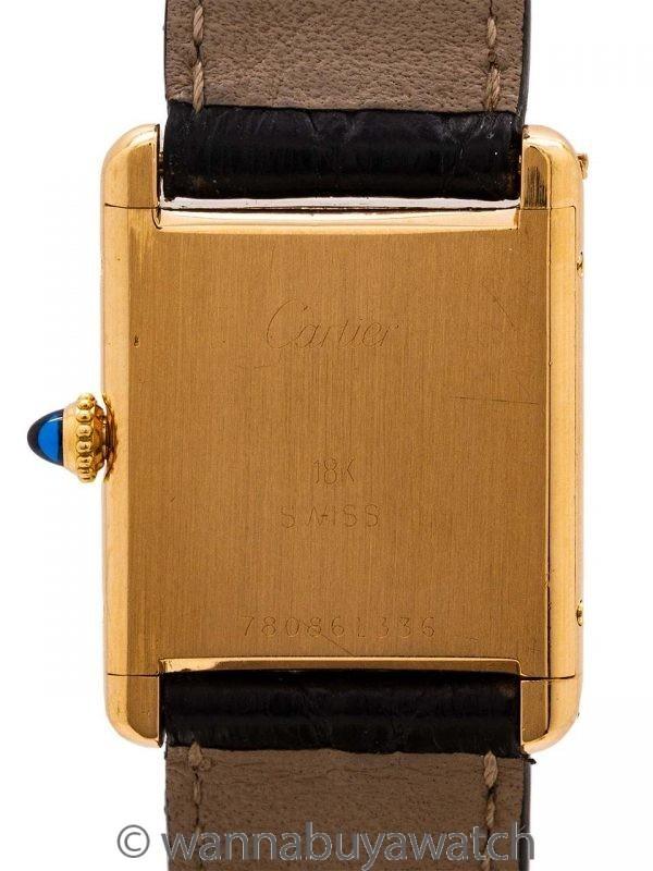 Cartier Man's 18K Gold Tank Louis circa 1990's